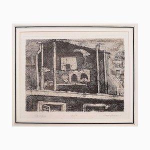 Vita di Pace - Original Etching by Luigi Bartolini - 1957 1957