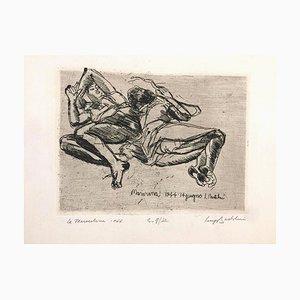 Le Marocchine - Etching by Luigi Bartolini - 1944 1944