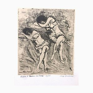 Anna ed Emma nei Boschi - Etching by Luigi Bartolini - 1933 1933