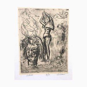 Valeria - Etching by Luigi Bartolini - 1948 1948