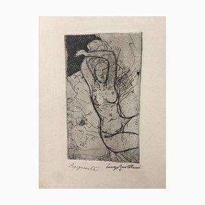 Bagnante - Etching by Luigi Bartolini - 1949 1949