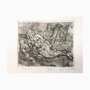 L'Aretino - Etching by Luigi Bartolini - 1957 1957