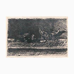 Uccellini Imbalsamati (Embalmed Birds) - Etching by Luigi Bartolini - 1943 1943