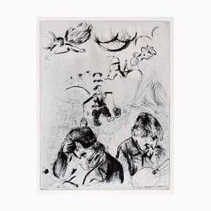 Gogol et Chagall - Original Etching From the series ''Les Ames Mortes'' - 1923/27 1923-1927