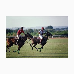 Polo in Italy Oversize C Print Framed in White by Slim Aarons