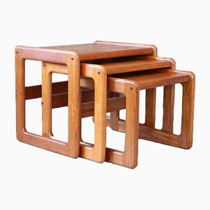 Teak Side Tables, 1970s, Set of 3