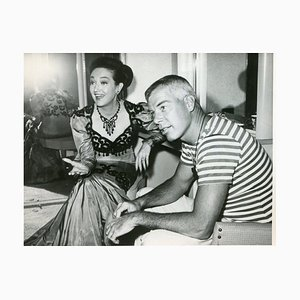 Dorothy Lemour e Lee Marvin - Original Vintage Photograph - 1962 1962