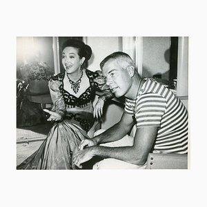 Dorothy Lemour und Lee Marvin - Original Vintage Fotografie - 1962 1962
