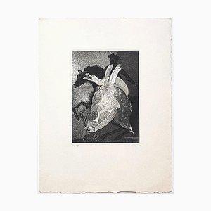 Sea Creature - Original Radierung Auf Papier von Christian Despic - 20. Jahrhundert 20. Jahrhundert