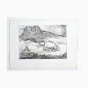 Frog - Original Etching by Marcel Guillard - 20th century 20th century