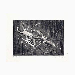 Incisione originale in acquaforte di Christian D 'Espic, 1954, inizio XX secolo