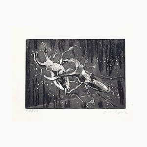 Insects - Original Etching on Paper by Christian D' Espic - 1954 20th century
