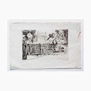 Mansion - Original Radierung auf Papier von Ernest Herchez - 20. Jahrhundert