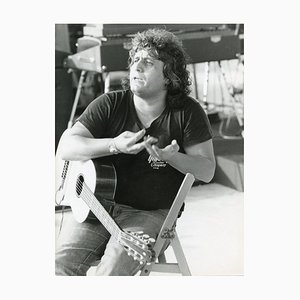 Drei Portraits des italienischen Singer Pino Daniele von Ennio Antonangeli - frühe 1980er 1980er Jahre