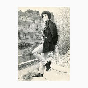Full Portrait of Italian Singer Lucio Battisti - Vintage Photo - Late 1960s 1960s