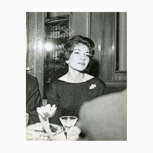 Retrato con estilo de Maria Callas - Foto vintage, años 60