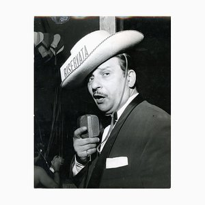 Fred Buscaglione by Giancolombo - Vintage b/w Photo - 1950s 1950s
