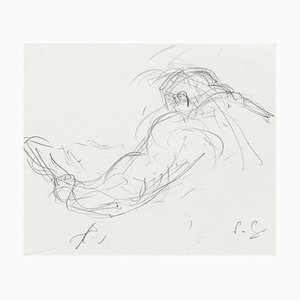Figure - Original Pencil Drawing by S. Goldberg - Mid 20th Century Mid 20th Century