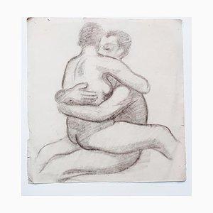 Couple - Original Drawing in Pencil - 20th Century 20th Century