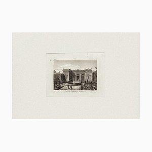 View of Quirinale Garden, Rome - Original Etching on Paper - 19th century 19th century