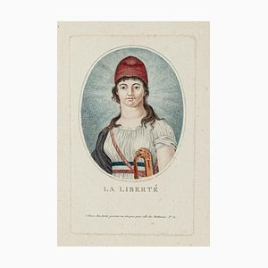La Liberté - Original Colored Etching - Early 19th Century 1800