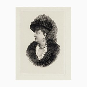 The Portrait - Original Radierung von Francesca di Bartolo - Frühes 19. Jahrhundert 1800