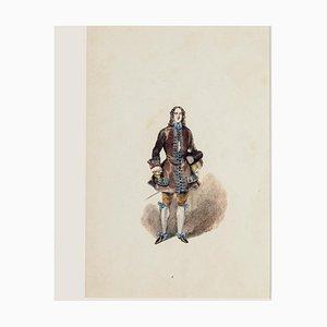 Costume - Original Hand-colored Lithograph - 19th Century 19th Century