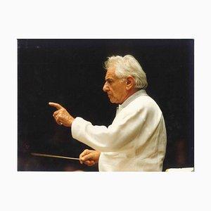 The Genius of Bernstein - Photographie Vintage Originale par G. Passerini - 1980s 1980s