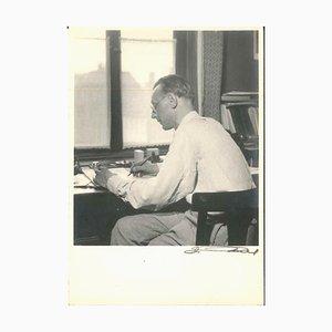 Carl Orff Composing - Original Vintage Photograph - 1950s 1950s