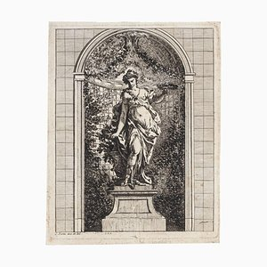 Gravure à l'Eau-Forte Femme - XVIIIème Siècle 18ème Siècle