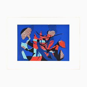 Blue Composition - Original Screen Print by Wladimiro Tulli - 1970s 1970s