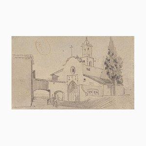 The Church - Zeichnung mit Bleistift auf Papier - XX. Jahrhundert 20. Jahrhundert
