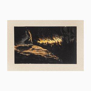 Night - Original Radierung von Nicolas Pichon - Spätes 20. Jahrhundert Spätes 20. Jahrhundert