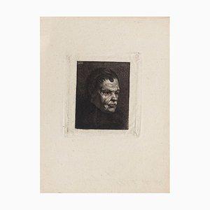 Portrait - Original Radierung von Auguste Danse - spätes 19. Jahrhundert spätes 19. Jahrhundert