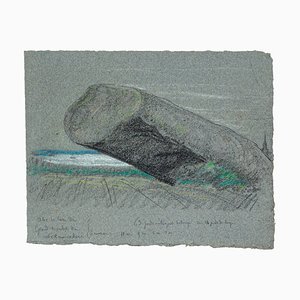 Rock - Original Drawing in Pastel on Paper - 20th century 20th century