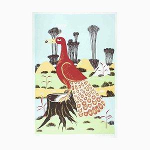 Ptica - Original Screen Print by T.P. Rvat - 1974 1974