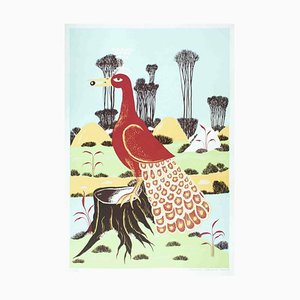 Ptica - Original Siebdruck von TP Rvat - 1974 1974