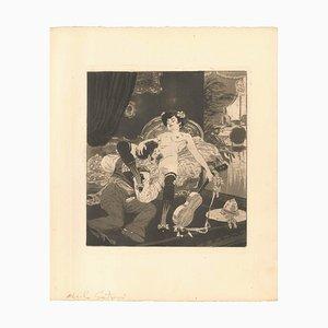 Escena erótica IX - Ilustración de Emil Sartori - 1907 1907