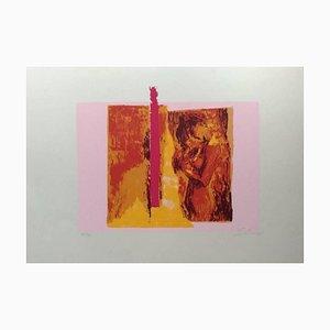 Pink Nude - Original Screen Print by N. Simbari - 1976 1976