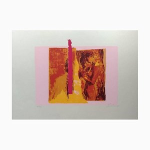 Pinke Akt - Original Siebdruck von N. Simbari - 1976 1976