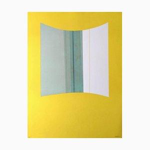 Litografia originale gialla di Lorenzo Indrimi - 1970, 1970
