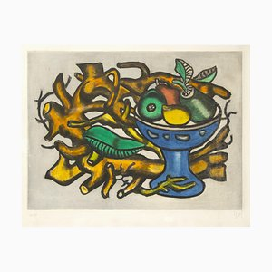 Nature morte à la Coupe de Fruit - Original Lithograph by F. Léger - 1950s 1950s