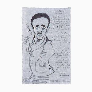 Eclipse (Portrait of Libero De Libero) - China Ink by Corrado Cagli - 1942 1942
