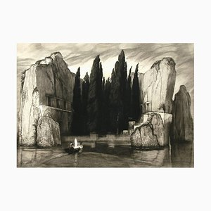 Die Toteninsel (The Isle of the Dead) - by M. Klinger after A. Bocklin - 1890 1890