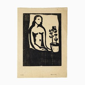 Serena - Original Woodcut Print by Arturo Martini - 20th Century 20th century