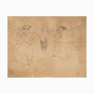 Le Justicier (Monte-Cristo) - Original China Tinte Zeichnung von Jean Cocteau - 1920er 1920