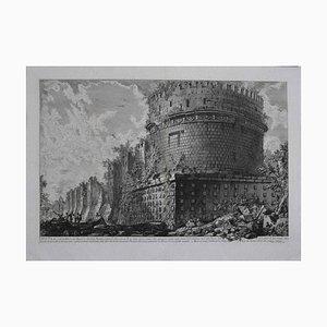Ansicht von Mausoleo von Cecilia Metella - Original Radierung von GB Piranesi - 1773 1773