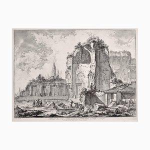 Temples d'Iside et Serapi - Gravure à l'eau-forte par GB Piranesi - 1759 1759