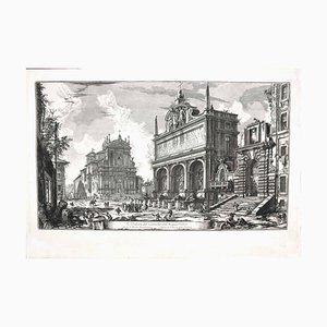 Vue de Castello dell'Acqua Felice - Gravure à l'Eau-Forte par GB Piranesi - 1751 1751