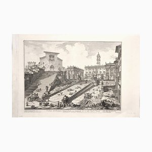 View of the Capitoline Hill - Etching by G. B. Piranesi - 1775 1775